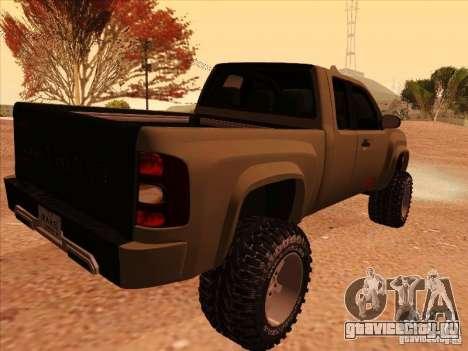 Chevrolet Silverado ZR2 для GTA San Andreas вид сзади слева