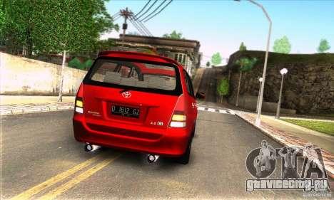Toyota Kijang Innova 2.0 G для GTA San Andreas вид справа