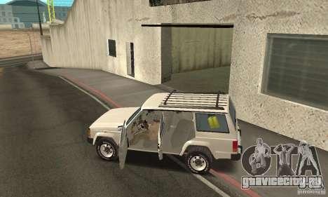 Jeep Grand Cherokee 1986 для GTA San Andreas вид сверху