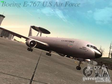 Boeing E-767 U.S Air Force для GTA San Andreas вид сзади слева