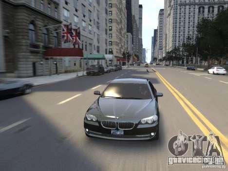 BMW 550i F10 для GTA 4 вид сверху