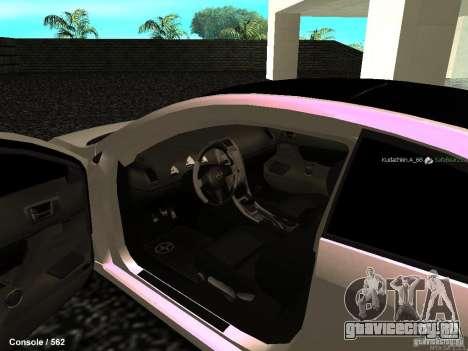 Toyota Scion для GTA San Andreas вид изнутри
