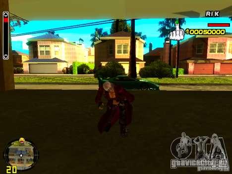 Данте для GTA San Andreas пятый скриншот
