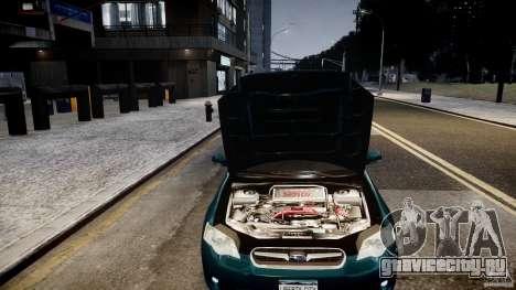 Subaru Legacy B4 GT для GTA 4 вид сзади