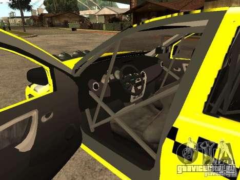 Dacia Sandero Speed Taxi для GTA San Andreas вид сбоку