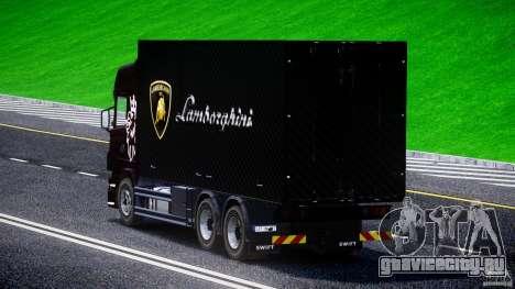 Scania R580 Tandem для GTA 4 вид сзади слева