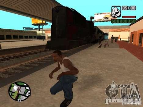 Поезд combine из игры Half-Life 2 для GTA San Andreas вид сзади слева