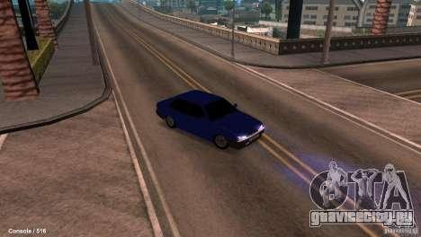 BАЗ 21099 для GTA San Andreas вид изнутри