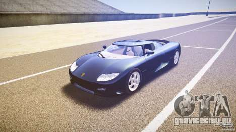 Koenigsegg CC8S 2002 для GTA 4 вид сзади