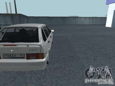 ВАЗ 2114 для GTA San Andreas вид изнутри