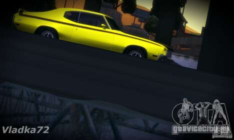 Buick GSX 1970 v1.0 для GTA San Andreas вид сзади