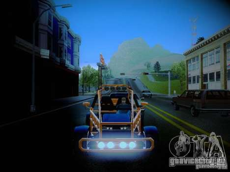 Buggy From Crash Rime 2 для GTA San Andreas вид сбоку