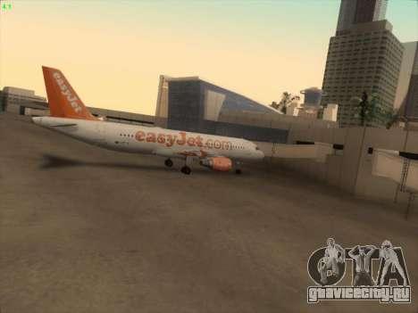 Airbus A320-214 EasyJet для GTA San Andreas вид снизу