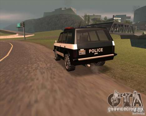 Huntley Police Patrol для GTA San Andreas вид сзади слева