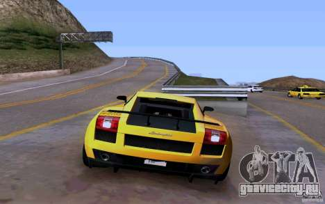 Lamborghini Gallardo Superleggera для GTA San Andreas вид изнутри