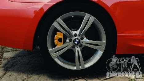 BMW M6 F13 2013 v1.0 для GTA 4 вид снизу