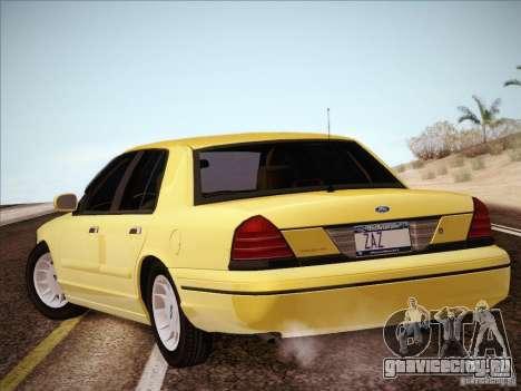 Ford Crown Victoria Interceptor для GTA San Andreas вид слева