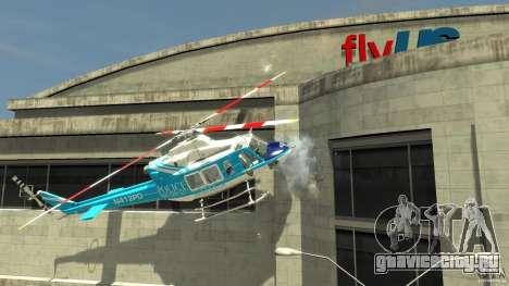 NYPD Bell 412 EP для GTA 4 вид сзади слева