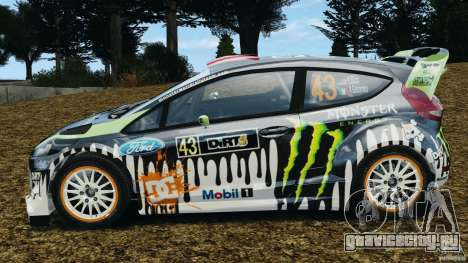 Ford Fiesta RS WRC Gymkhana v1.0 для GTA 4 вид слева