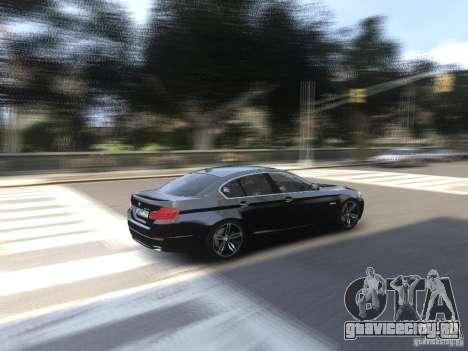 BMW 550i F10 для GTA 4 вид изнутри