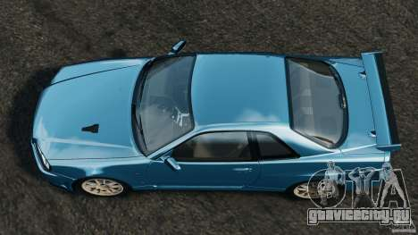Nissan Skyline GT-R R34 2002 v1.0 для GTA 4 вид справа