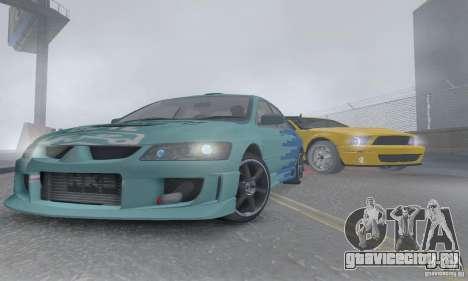 Mitsubishi Lancer Evolution 8 Tuneable для GTA San Andreas вид сбоку