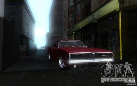 Dodge Charger RT 69 для GTA San Andreas вид изнутри