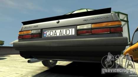 Audi 80 B2 1985 Quattro для GTA 4 вид справа
