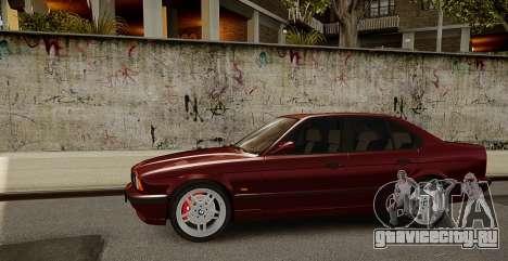 BMW M5 (E34) 1995 v1.0 для GTA 4 вид сзади