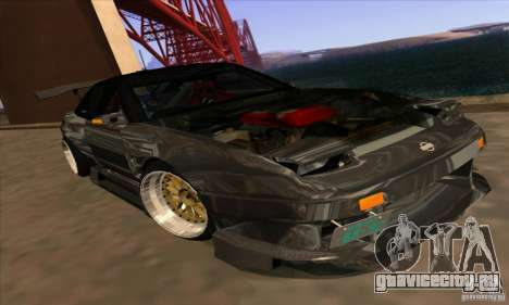 Nissan 180SX Gkon - Drift chrome для GTA San Andreas