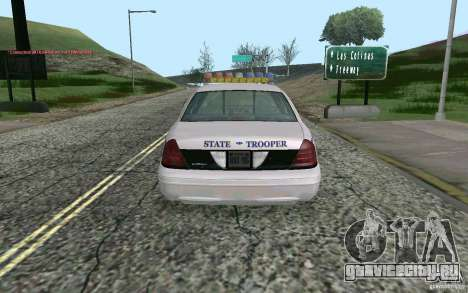 Ford Crown Victoria Police для GTA San Andreas вид сзади слева