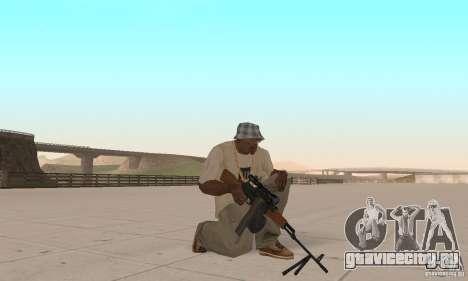 Переносной пулемет Калашникова для GTA San Andreas третий скриншот