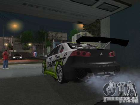 Mitsubishi Evolution X Stock-Tunable для GTA San Andreas вид сзади слева