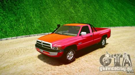 Dodge Ram 2500 1994 для GTA 4 вид изнутри