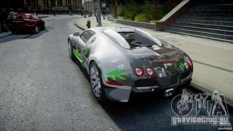 Bugatti Veyron 16.4 v1.0 new skin для GTA 4 вид сзади слева