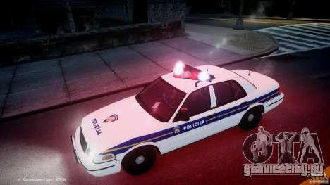 Ford Crown Victoria Croatian Police Unit для GTA 4 двигатель