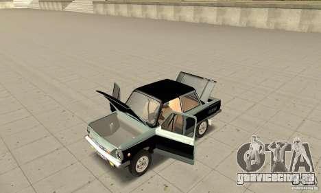 ЗАЗ 968М ver 1.0 для GTA San Andreas вид сзади