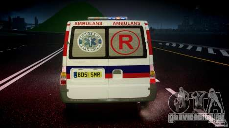 Ford Transit Polish Ambulance [ELS] для GTA 4 вид снизу