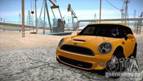 MINI Cooper Clubman JCW 2011 для GTA San Andreas вид изнутри
