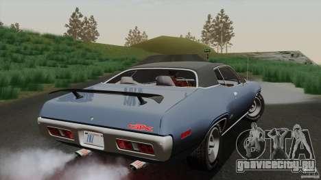 Plymouth GTX 426 HEMI 1971 для GTA San Andreas вид сбоку
