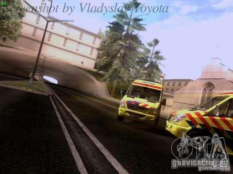 Mercedes-Benz Sprinter Ambulance для GTA San Andreas вид сзади