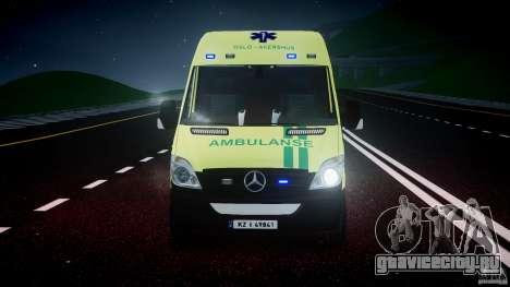 Mercedes-Benz Sprinter PK731 Ambulance [ELS] для GTA 4 вид снизу