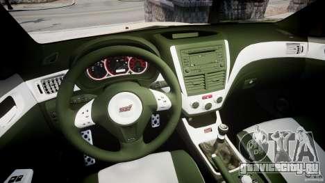 Subaru Impreza WRX STi 2009 для GTA 4 вид сзади