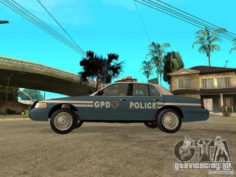 2003 Ford Crown Victoria Gotham City Police Unit для GTA San Andreas вид слева