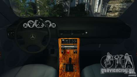Mercedes-Benz SL 500 AMG 1995 [Final] для GTA 4 вид сзади