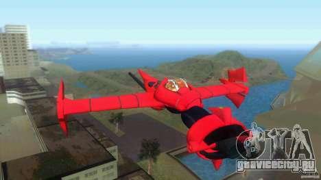 Swordfish Mono Racer для GTA Vice City вид сзади слева