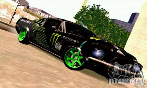 Shelby GT500 Monster Drift для GTA San Andreas вид сзади