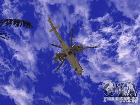 Ми-24 из COD MW 2 для GTA San Andreas вид справа