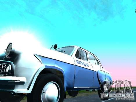 Москвич 403 С Милиция для GTA San Andreas вид изнутри