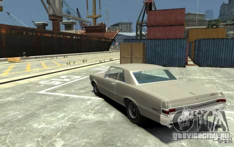 Pontiac GTO v1.1 для GTA 4 вид сзади слева